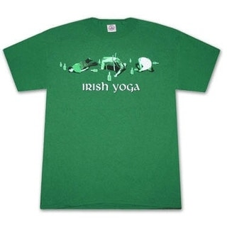 Irish Yoga St. Patrick's Day Kelly Green Graphic T-shirt
