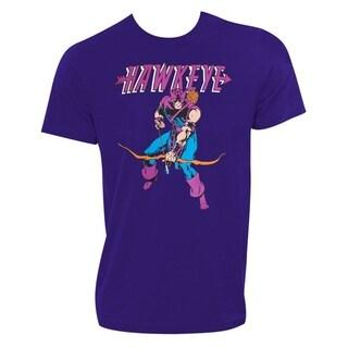 Hawkeye Men's Purple Tee Shirt