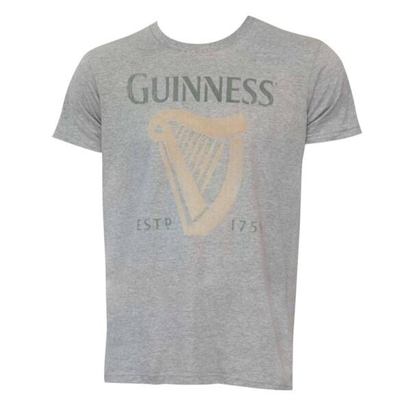 Grey Guinness Harp Logo Shirt