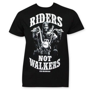 Walking Dead Men's Black 'Riders Not Walkers' T-shirt