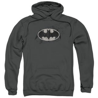 Batman Adult Arcane Bat Logo Charcoal Cotton/Polyester Pullover Hoodie