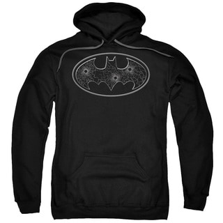 Batman Adult Glass Hole Logo Black Cotton/Polyester Pullover Hoodie