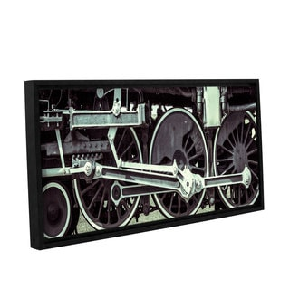 Richard James's 'Locomotive' Gallery Wrapped Floater-framed Canvas