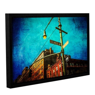 Richard James's 'Columbus_73rd' Gallery Wrapped Floater-framed Canvas