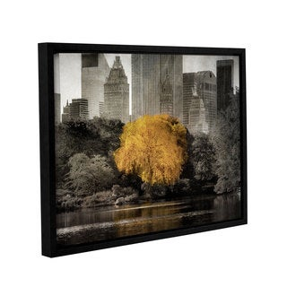 Richard James's 'Golden Tree' Gallery Wrapped Floater-framed Canvas