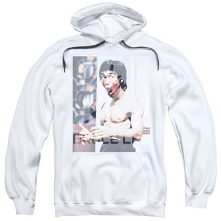 Bruce Lee/Revving Up Adult Pull-Over Hoodie in White