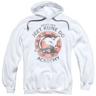 Adult's White Cotton/Polyester Bruce Lee/Jeet Kune Pull-over Hoodie