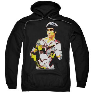 Bruce Lee/Body Of Action Adult Pull-over Hoodie in Black