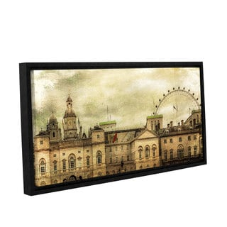 Richard James's 'Eye On Horse Guards' Gallery Wrapped Floater-framed Canvas