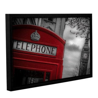 Richard James's 'London Calling' Gallery Wrapped Floater-framed Canvas - Multi