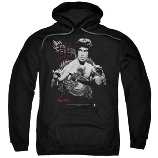 Adult's Black Cotton/Polyester Bruce Lee/The Dragon Pull-over Hoodie