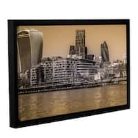 Richard James's 'City London Skyline' Gallery Wrapped Floater-framed Canvas