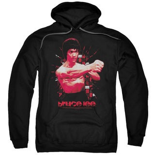 Bruce Lee Adult's The Shattering Fist Black Cotton/Polyester Pullover Hoodie