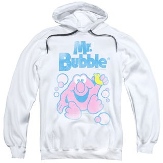 Mr Bubble/80s Logo Adult White Pullover Hoodie