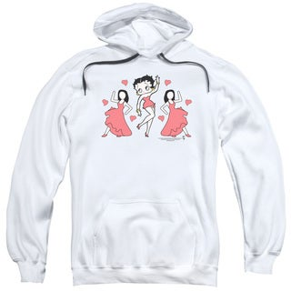 Betty Boop/Bb Dance Adult Pull-Over Hoodie in White