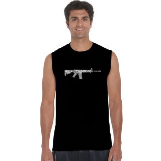 Men's AR15 2nd Amendment Word Art Sleeveless T-shirt