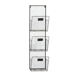 Three Tier Metal Wire Wall Unit