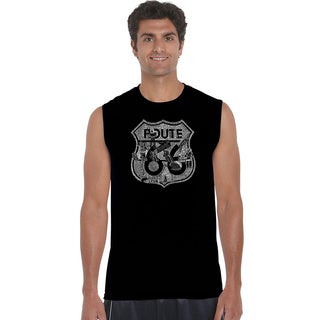 Men's Cotton Sleeveless Route 66 Stops T-shirt