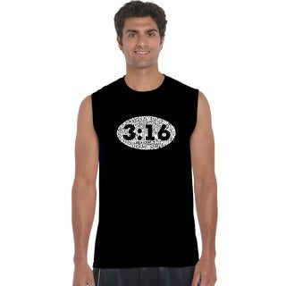 Men's Sleeveless John 3:16 Cotton T-shirt