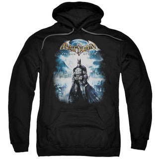 Adult's Black Cotton/Polyester Batman Aa/Game Cover Pull-over Hoodie