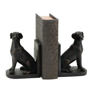 Copper Grove Chatfield Polystone Dog Themed Book End