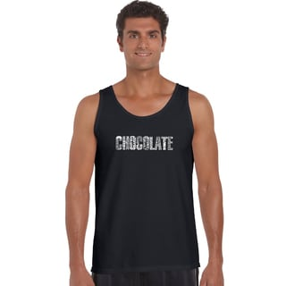 Men's Different Foods Made With Chocolate Tank Top