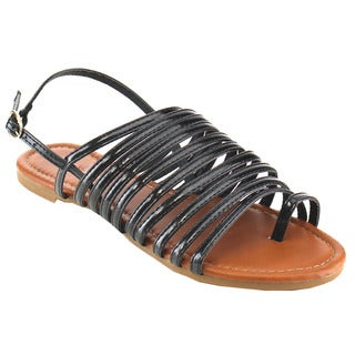 Beston Eb59 Strappy Flat Sandals