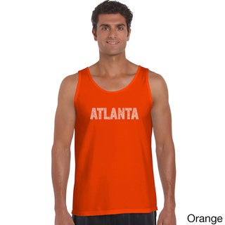 Men's 'Atlanta Neighborhoods' Solid-colored Cotton Tank Top