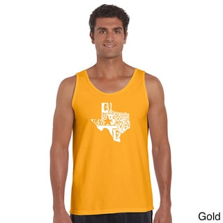 Men's 'Everything is Bigger in Texas' Solid-colored Cotton Tank Top