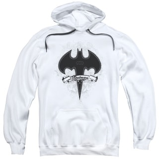 Batman Adults' Gothic Gotham White Pull-over Hoodie