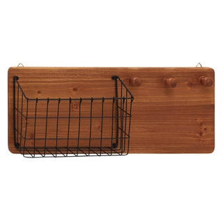 Fantastic Wood Metal Wall Storage Rack