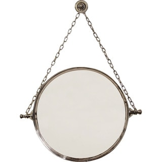 Handmade Premier Nickle Finish Chain Mirror (Mexico)