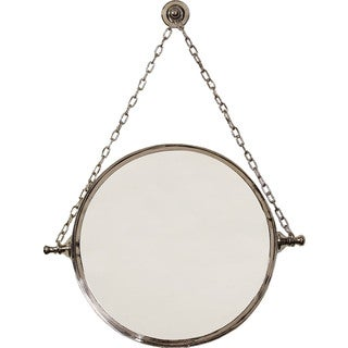 Polished Nickel Finish Mirror on Chain