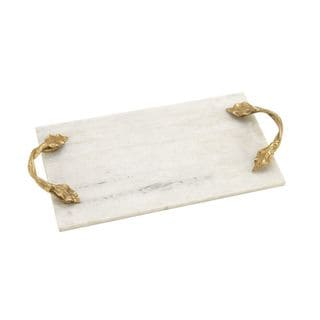 Fashionable Marble Aluminum Rectangle Tray - Thumbnail 0