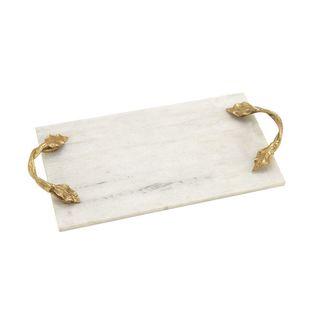 Fashionable Marble Aluminum Rectangle Tray