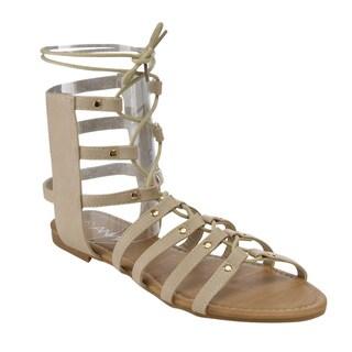 Anna Roman-1 Flat Gladiator Sandals