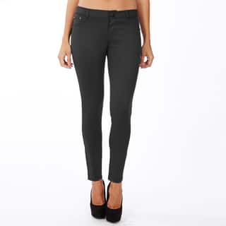 Women's Black Cotton Lycra Casual Style Solid Pattern Machine Washable Legging Pants|https://ak1.ostkcdn.com/images/products/11835406/P18739185.jpg?impolicy=medium