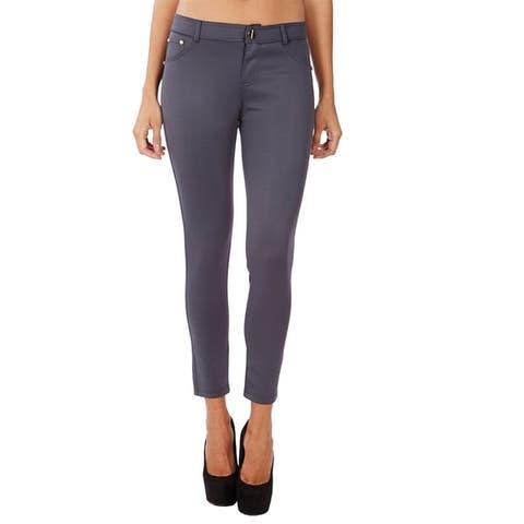 Women's Black Cotton Lycra Casual Style Solid Pattern Machine Washable Legging Pants