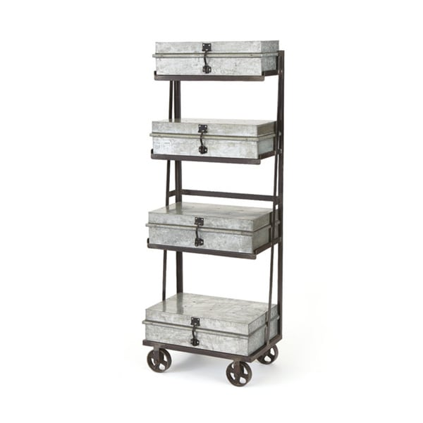 Galvanized Metal Shelving Unit Free Shipping Today 11835446