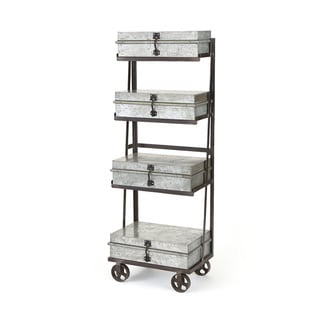 Merritt Steel Finish Iron Shelf Unit