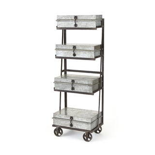 Galvanized Metal Shelving Unit