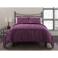 Ruched Petite Flora 3-piece Duvet Cover Set