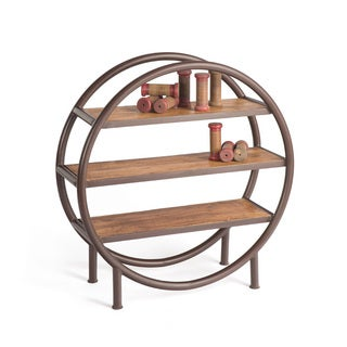 Hip Vintage Wood Iron Rounder Bookshelf