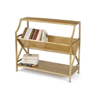 Brass Library Shelving Unit