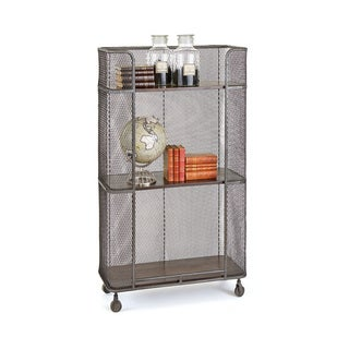Hip Vintage Redding Silver Mobile Shelving Unit