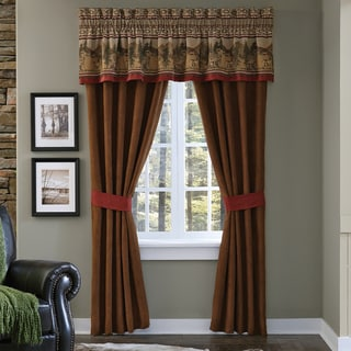 Croscill Oakwood Pole Top Curtain Panel Pair