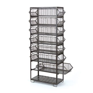Iron Binned Shelving Unit