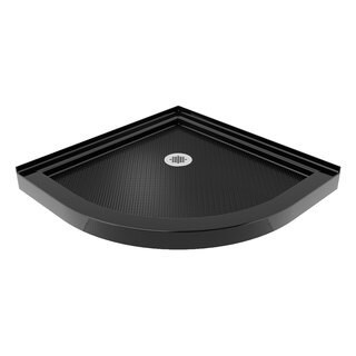 DreamLine SlimLine 33 x 33-inch Quarter Round Black Shower Base