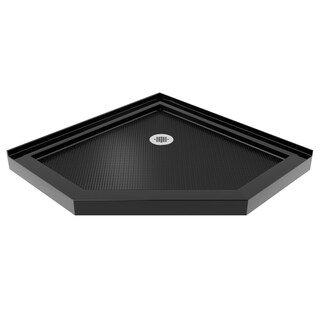 DreamLine SlimLine 38 in. by 38 in. Neo-Angle Shower Tray in Black Finish