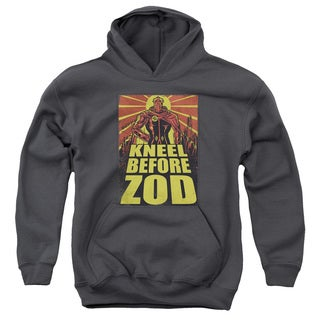 Superman/Zod Poster Youth Charcoal Pull-over Hoodie